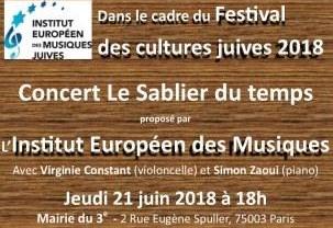 Le Sablier du Temps – Festival des Cultures Juives (Paris, 14ème édition)